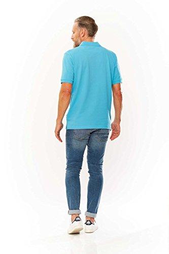 Kitaro Herren Shirt Poloshirt Basic Piqué Hellblau