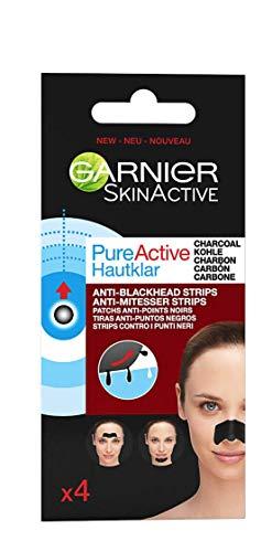 Garnier Pure Active Cerotti Contro i Punti Neri Ostinati, Strips per la Zona T, Formula Arricchita con Carbone Vegetale, Efficace in Soli 15 Minuti