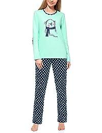 Merry Style Pijamas Ropa de Dormir Verano Pijama Pantalones y Camisetas Mujeres MS10-169