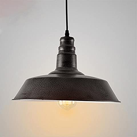 Xh&Yh LED American Retro Industrial Wind Chandelier Iron Pot Cover