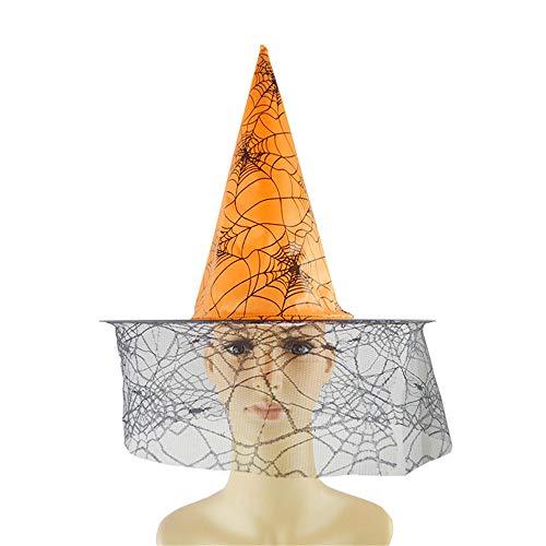 Mitlfuny Halloween Hexenhut Mode Verkleiden Sich Skeleton Muster Geisterparty Festival Obligatorisch Perfekt FüR Die Ferienzeit (Orange)