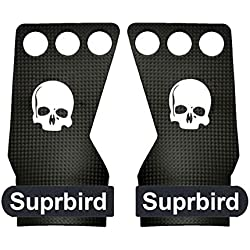 SUPRBIRD Grips 3H - Calleras para Crossfit Grips Gymnastics, Pullups, Weight Lifting, Chin Ups Protect Your Palms - Guantes Gimnasio