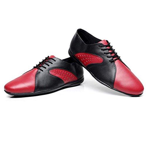 W & Lm Luomo Base Soft Chaussures De Danse Latine Jazz Chaussures Amitié Square Dance Standard Nation Noir