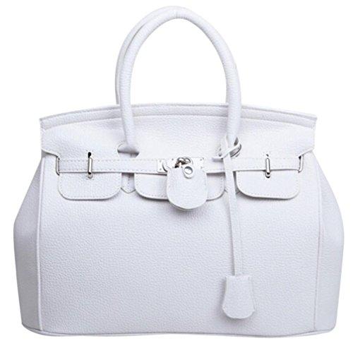 Mittagessen Laptop Tote (Btruely Schultertasche Damen Umhängetasche Größere Kapazität Tasche Vintage Messenger Mode Crossbody Mädchen Handtasche (Weiß))
