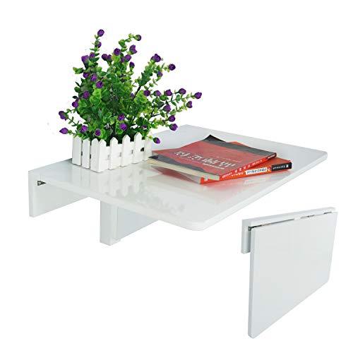 Jin Qi,Contra la pared,mesa plegable, escritorio,de color blanco ...