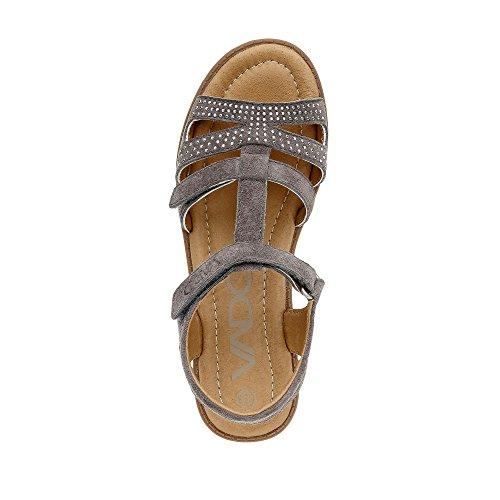 Vado Dia Sandale Grau