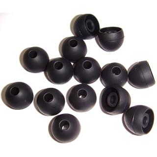 Xcessor 7 Paar (Satz Mit 14 Stück) Hochwertige Gummi Silikon Ohrpolster Ohrstöpsel Für In-Ear Ohrhörer. Kompatibel Mit Den Meisten In-Ohr Markenkopfhörern. Größe: M (Mittel). Schwarz