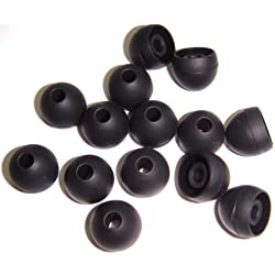 Xcessor Medium Remplacement Embouts en silicone–semi-transparent (lot de 7paires), Noir, MOYENNE (M)