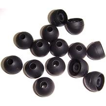 Xcessor Silicona Almohadillas de Repuesto Para Auriculares Internos 7 pares (Juego de 14 piezas). Compatible con la Mayoría en el Oído Marcas Auriculares. Talla: MEDIANO (M). Negro