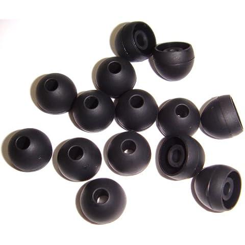 Xcessor Silicona Almohadillas de Repuesto Para Auriculares Internos 7 pares (Juego de 14 piezas). Compatible con la Mayoría en el Oído Marcas Auriculares. Talla: MEDIANO (M).