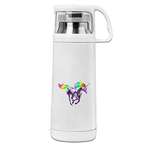 bakeonion Rainbow Einhorn Vakuum Tasse Travel Becher mit Henkel Tasse Wasser Flasche für Reisen Sport Gym (Kinder Abraham Lincoln Kostüme)