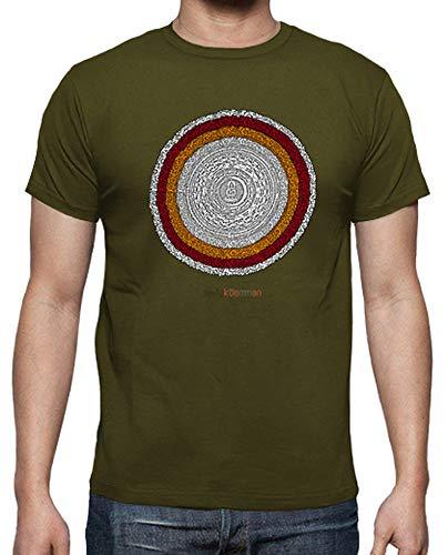 latostadora - Camiseta Mandala para Hombre Army XL
