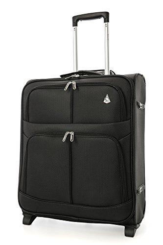 Aerolite leggero Easyjet e British Airways BA massima Cabin Allowance bagaglio a mano viaggio valigia 56x 45x 25con 2ruote (55,9cm, 60litri, nero)