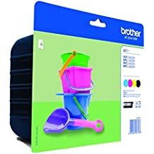 Brother Inkjet Cartridge - Black/Yellow/Magenta/Cyan (Pack of 4)
