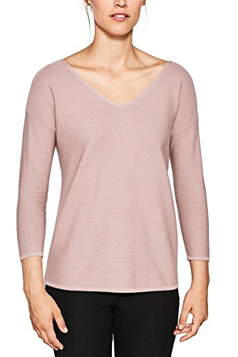 ESPRIT Collection 087eo1i007, Suéter para Mujer, Rosa (Nude 2 686), Medium