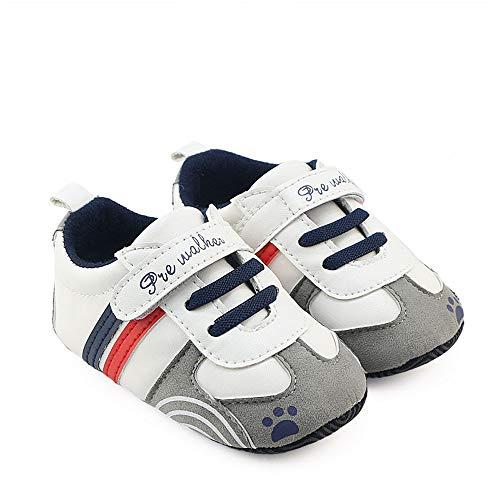 Zapatillas de Deporte Bebé, LANSKIRT Recién Nacido Prewalker Zapatos de Suela Blanda Antideslizante...