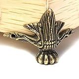 Leisial 4 pièces Petit Pied d'angle décoratif en metal pour boîte à bijoux, table avec vis Style vintage