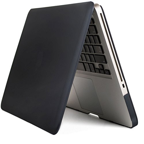 BSL MacBook Cover, MacBook Schutzhülle, MacBook Pro 15 Zoll Hülle A1286, Soft-Touch Kunststoff Hartschale Schutzhülle für Apple MacBook Pro Laptop Computer (Schwarz) (Gummi-füße Für Laptop-tasche)