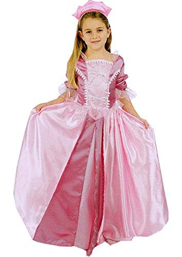 Maylynn 12326-M - Kostüm Prinzessin Abendstern rosa mit Diadem, Größe: M, circa 122/128