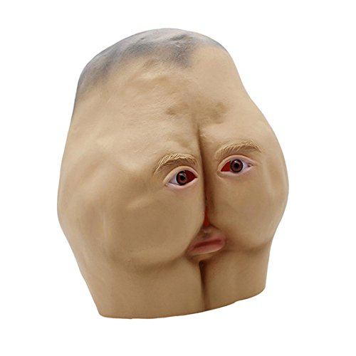 YYF Latex Maske Gummi Creepy Ugly Hip Kopf der Goonies Sloth Maske Halloween Party Kostüm ()