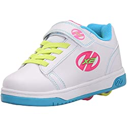Heelys Dual Up 770585 - Zapatos Dos Ruedas Para Niñas, Solid White/Neon Multi, 33 EU