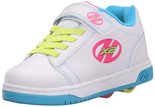 Heelys Mädchen Dual Up 770585 Lauflernschuhe Sneakers, 36 EU, Elfenbein (Solid White/Neon Multi), 33 EU (Mädchen Nina Für Schuhe)