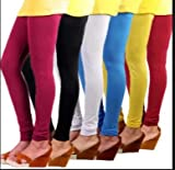 Rudraksha Leggings Women's Cotton Lycra Leggings (Multicolour, Free Size)-Pack Of 5