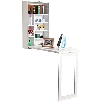 Sanlise Schreibtisch Wandklapptisch zur Fixierung an der Wand ein ...