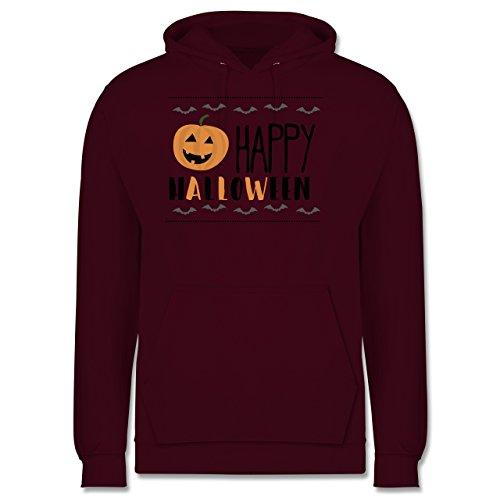 Halloween - Happy Halloween - Männer Premium Kapuzenpullover / Hoodie Burgundrot