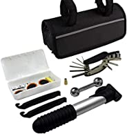 7pcs Bike Repair Kit Bicycle Fix Tool Set Portable Multi-function Cycling Bicycle Tool Kit with Bag for Outdoor
