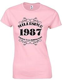T-Shirt Femme Anniversaire 30 Ans Millésime 1987