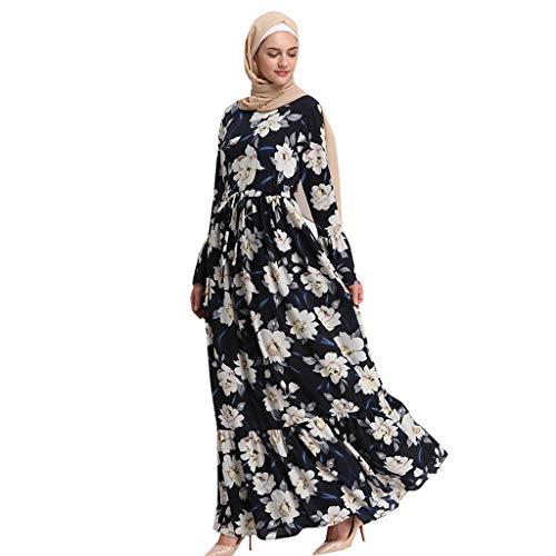 GJKK Muslimische Maxikleid Elegante Hohe Taille Cocktailkleid Elegante Muslimischen Kaftan Kleid Muslimische Roben Muslimisch Dubai Kleid Arabische Kleidung Abaya Kleid