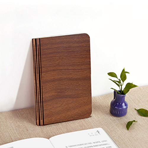 LED folding wooden mini book light with USB charging