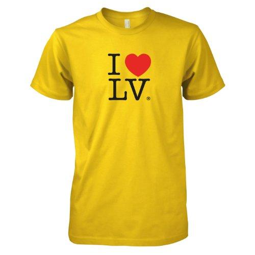 TEXLAB - I love Las Vegas - Herren T-Shirt Gelb