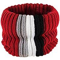 Zolimx Jungen Kind Winter Warmer Schal gestreiften Patchwork Cowl Neck Cotton Schal Ring Einfacher Strickschal