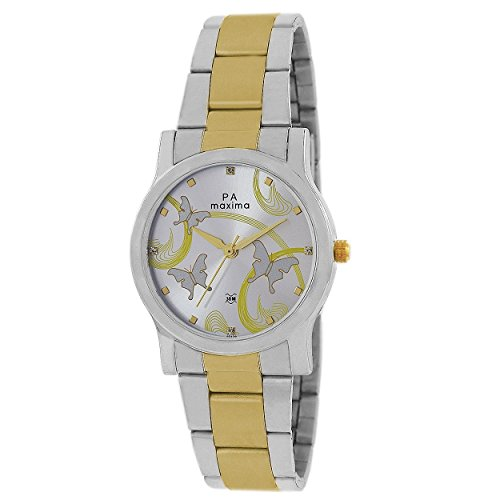 Maxima Analouge Silver Dial Women's Watch
