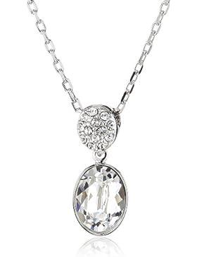 Swarovski Damen Halskette Metall Vanita Oval Kristall 38 cm weiß 5035876