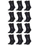 TOMMY HILFIGER Herren Classic Casual Business Socken 12er Pack (js), Schwarz, 43/46