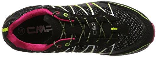 C.P.M. Atlas, Chaussures de Trail femme Noir (Nero-rasperry-acido)