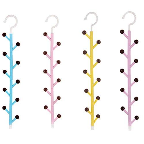 ZREAL Krawatten Kleiderbügel Tasche Schlüssel Halter Gürtel Schal hat Platz für Organizer Closet drehbar Sonnenbrille Handtasche Aufbewahrung Haken