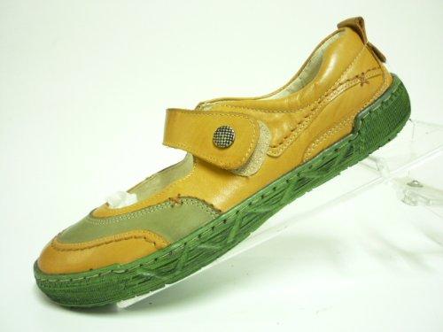 Miccos shoes lOOK chaussures pour femme en cuir nappa-doublure cuir, semelle, tR-semelles de propreté en cuir. - camel/khaki