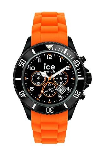 Ice-Watch - ICE Chrono Black Orange - Montre orange pour homme avec bracelet en silicone - 013705 (Large)