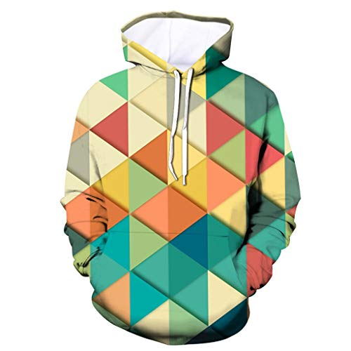 MAYOGO Herren 3D Kapuzenpullover Unisex Herren & Damen Hoodie Galaxy Bunte Pullover Kapuzenpulli Sweatshirt Kapuzenjacke Sportjacke Streetwear Geometric 3D Hoodie