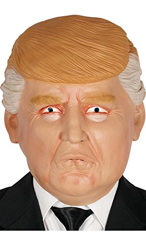 Mr. President Donald Trump Latex Maske für Erwachsene Karneval Fasching Party