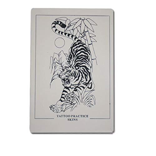 Tätowierungsstickerei-Praxis-Haut 3 Übungs-Haut-Tiger-Muster Tätowierung 30 * 20cm -