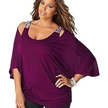 e399f8b25a60 Oyedens Taglia Grossa T-Shirt da Donna Casual Abbigliamento Donne Cerniera  Maglietta O-Neck
