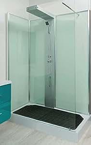 Cabine de douche à l'italienne TELLUS - 80x140cm