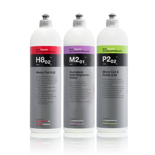 Koch Chemie Profi Politur Set 3x 1L Heavy Cut + Hochglanz + Finish Politur