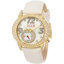 ELLETIME Women's EL20048S04N White Leather Watch