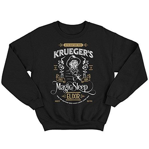 (9384 Krueger's Elixir Herren Sweatshirt Hathaway House A Street on Friday 13 Halloween Party Nightmare Thirteen 13th ELM Camp Evil(X-Large,Black))